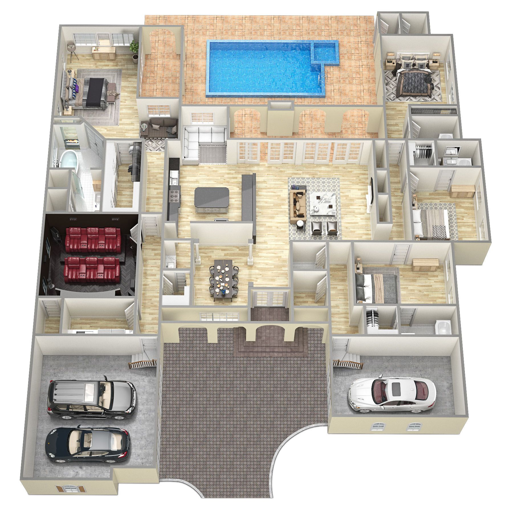 Holland perfect 3d floor plans sawyer sound property 3d floorplan illustration was created for