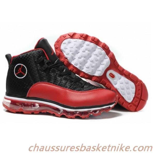 on sale d7542 8a90e Boutique Nike Air Max 12 Jordans Red Black Chaussures pas cher