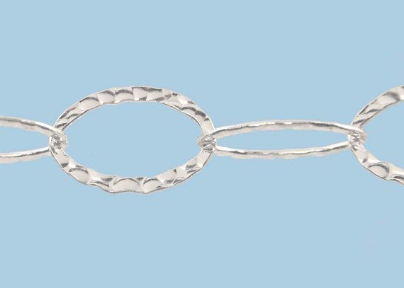 Hammered Cable Chain, 20mm Large