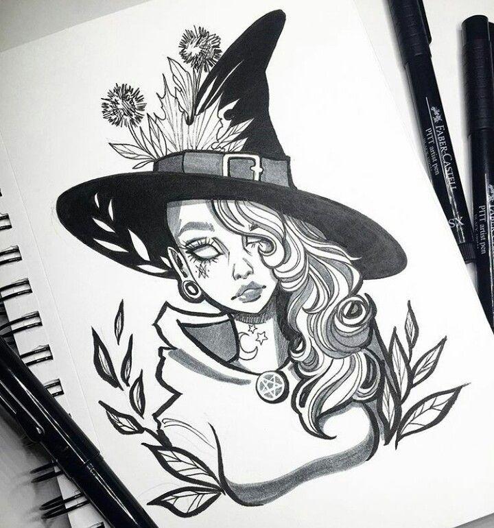 Картинки срисовки ведьм