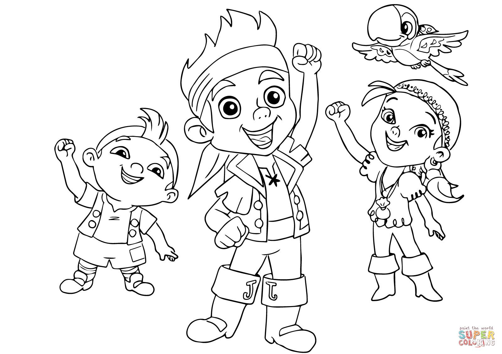 Jack and The Neverland Pirates coloring pages | Leo\'s coloring book ...