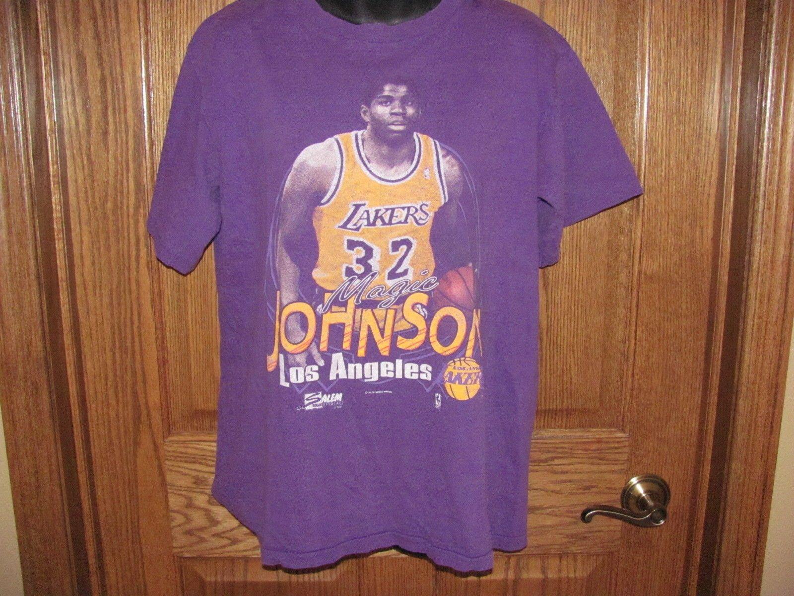 6d3ce1158ff Vintage 90 s LOS ANGELES LAKERS Magic Johnson T Shirt size L