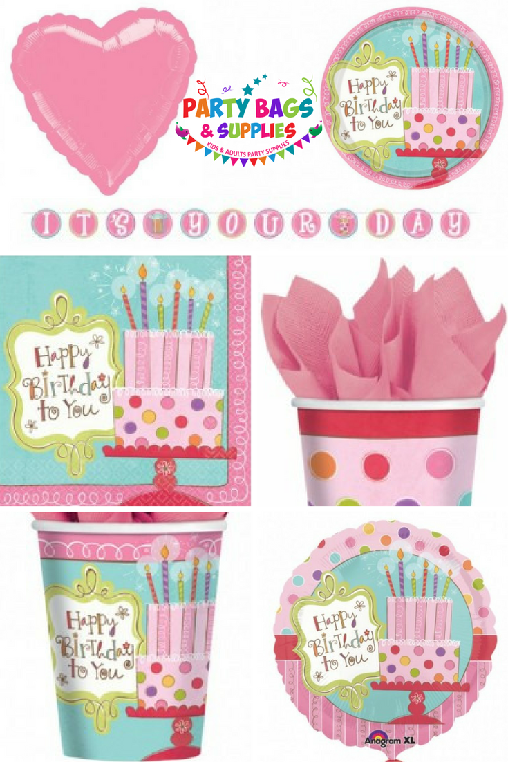 Gorgeous and sophisticated 'Sweet Stuff' party supplies for girls, teens and grownups.  Includes pretty and colourful tableware, decorations, balloons,candles, toys and filler, loot bags and much more.   There is everything in this set to create the perfect setting for your girls birthday party.  To view the full range, click here - https://www.partybagsandsupplies.co.uk/themes/sweet-stuff