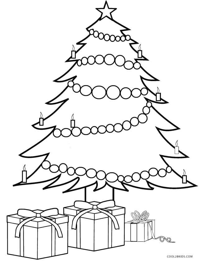 Christmas Tree With Presents Coloring Page Christmas Present Coloring Pages Tree Coloring Page Christmas Tree Coloring Page