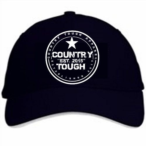 Country Tough Hat White Embroidery