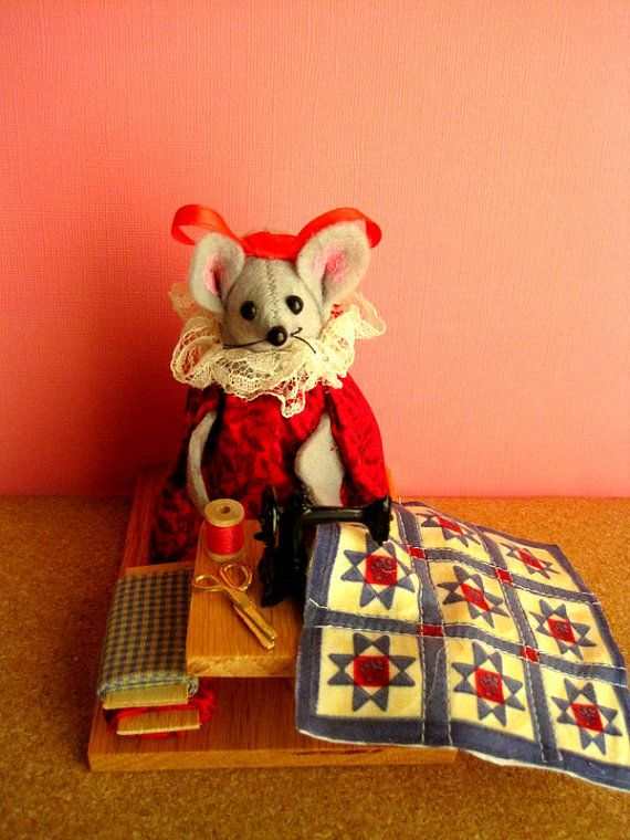 Quilter at a Sewing Machine by atticmouse on Etsy, $15.00