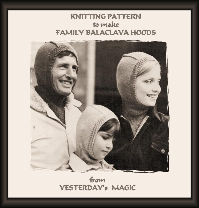 Digital Download Vintage Knitting Pattern Childrens Assorted Hats and Scarves in Two Sizes B943 PDF