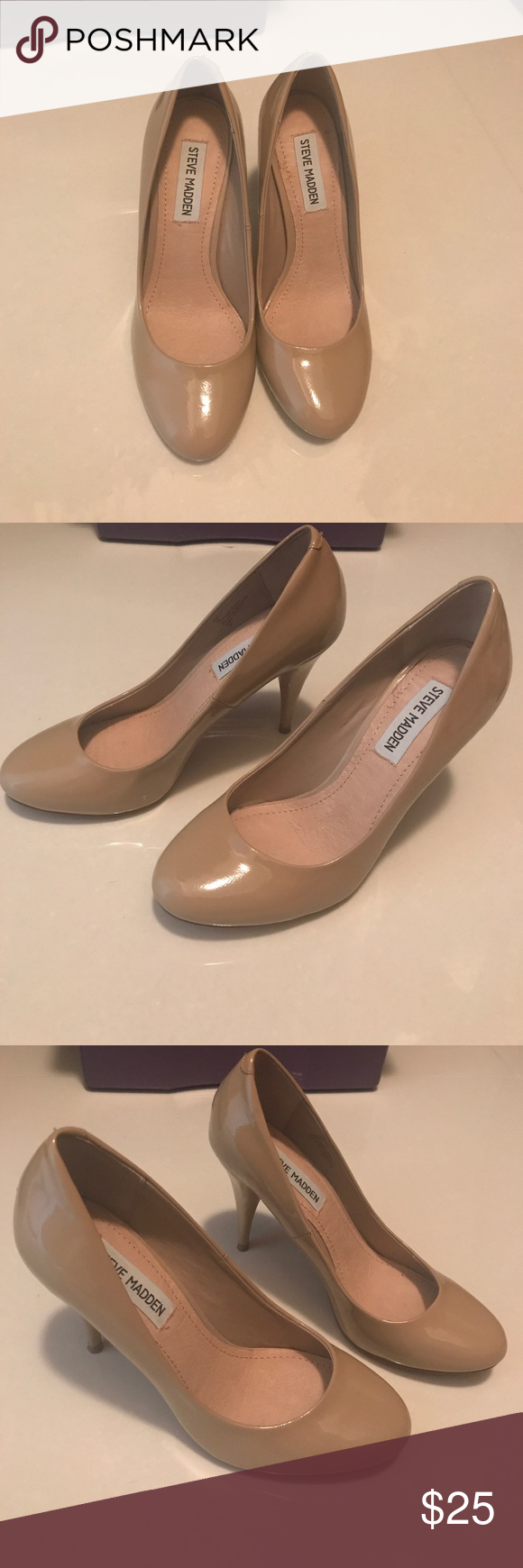 Nude Steve Madden Pumps Cream Steve Madden pumps in great condition. Heels are 3 3/4 inches high. Steve Madden Shoes Heels