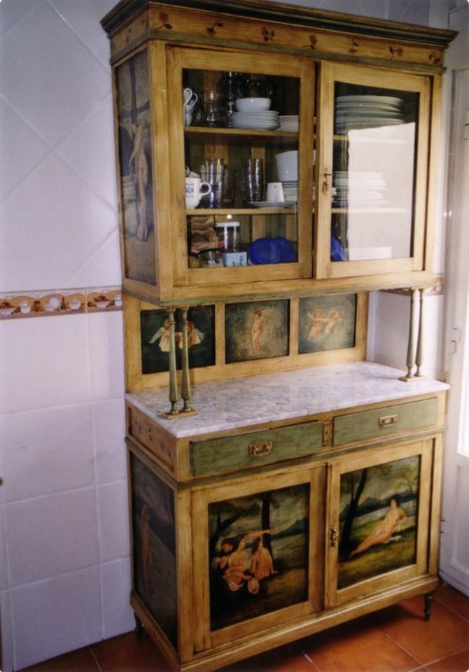 Alacena mueble para guardar el menaje de cocina for Menaje de cocina madrid