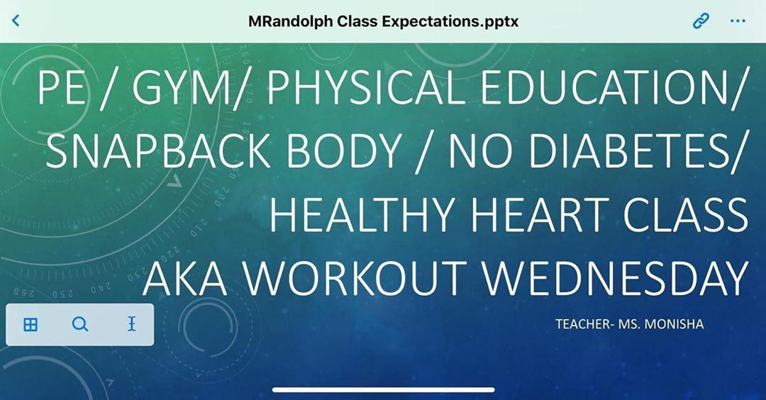 """Because """"Hey Class, I'll be teaching Workout Wednesday!"""" is so bland and vague.  #ThatTeacherLife..."""