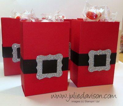 Santa Half Sheet Treat Box + Tutorial  Template Christmas ideas
