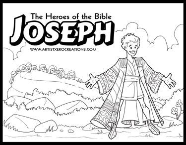 The Heroes Of The Bible Coloring Pages Joseph Vasarnapi Iskola