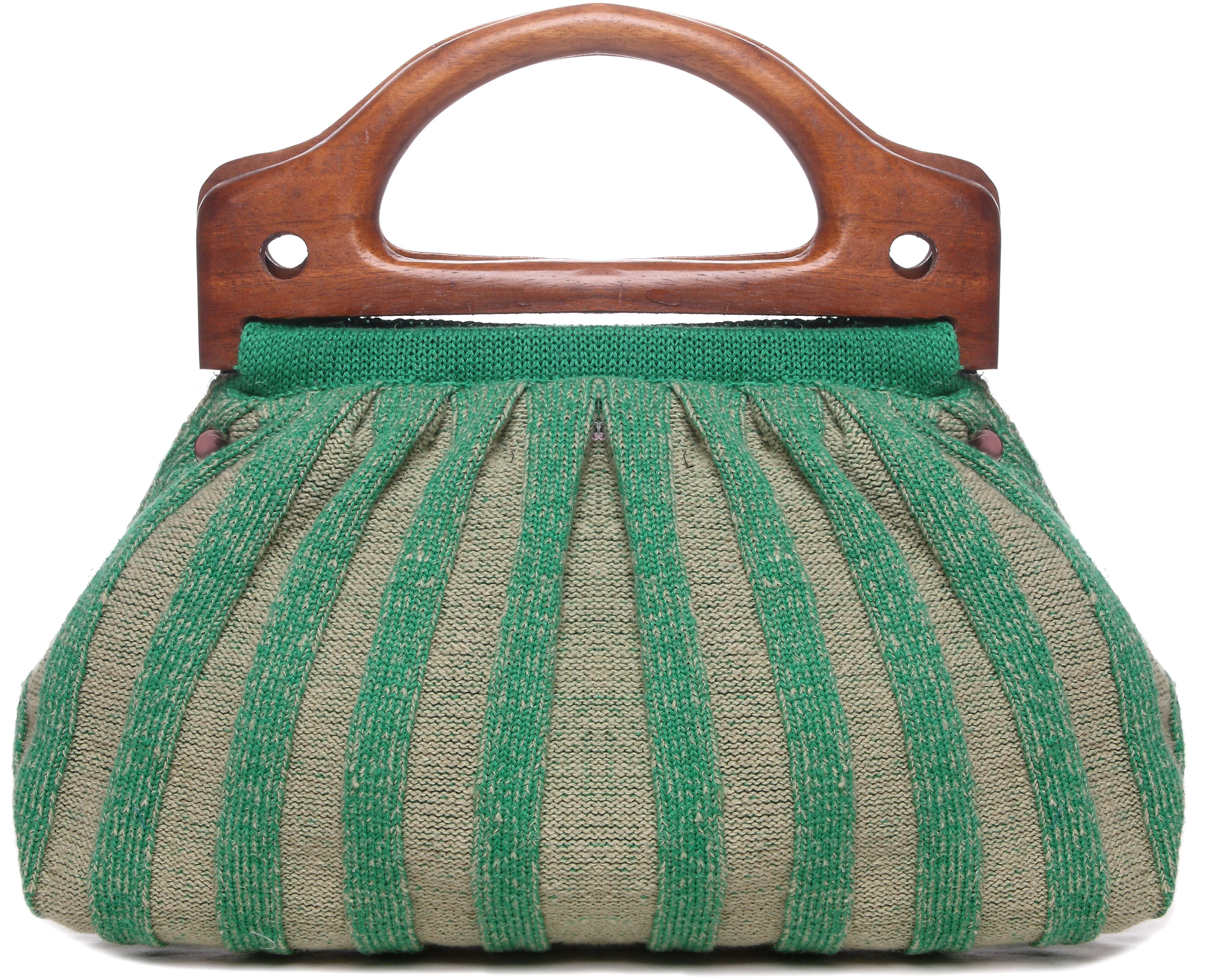 Bag From Pineapple Fiber Pina With Wooden Handle Bags