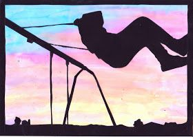 Simple Art Project Ideas Sunset Silhouette
