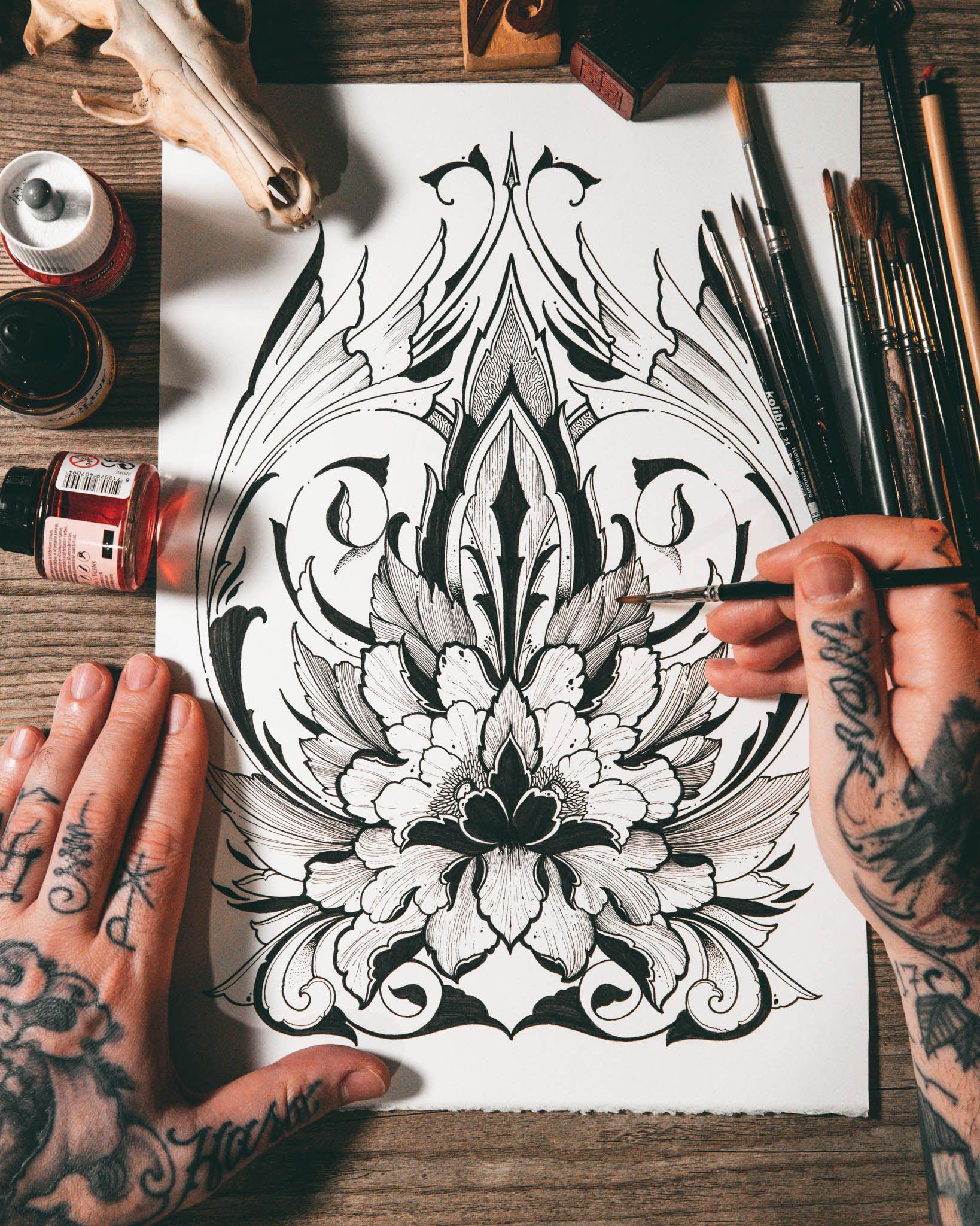Flower inspired в 2020 г Тату, Орнаменты