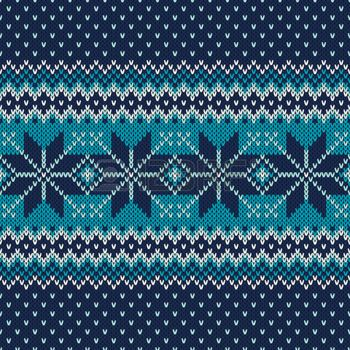 Seamless Fair Isle Knitted Pattern. Festive and Fashionable ...