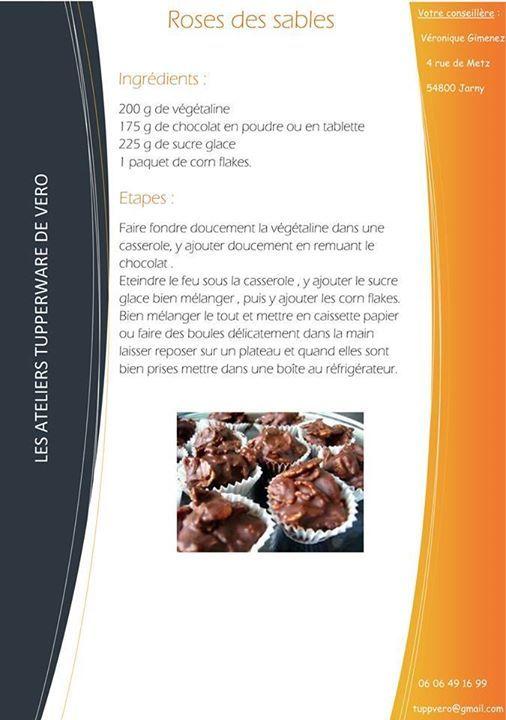 Roses Des Sables Tupperware Tupperware Tupperware Desserts Et
