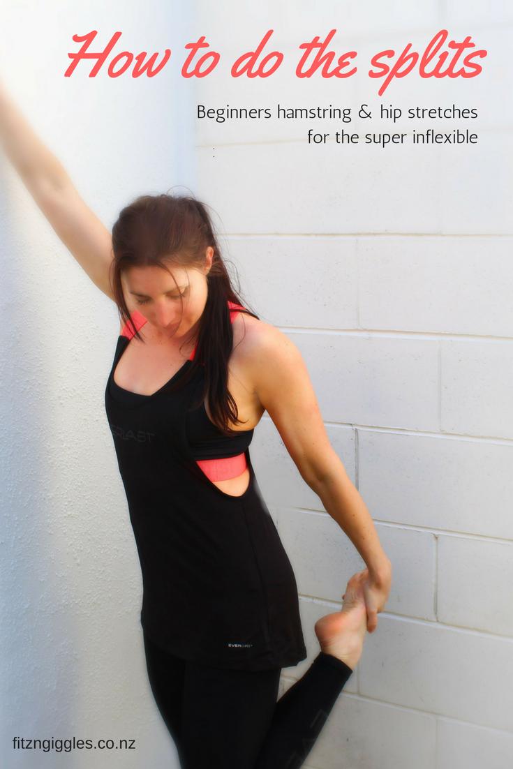 inflexible splits. how to do the splits if you\u0027re very inflexible. beginners hamstrings \u0026 hip inflexible