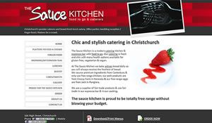 Bright web design interface for catering company