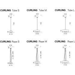 Photo of serien.lighting Curling Led Pendelleuchte Glasschirm klar, Reflektor opal (zylindrisch) Ø 32,5 cm (Cu