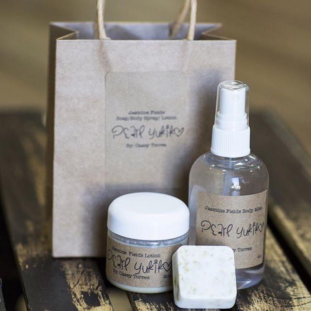 Jasmine Field Soap/Lotion/Spray  Made with Organic Ingredients Stocking Stuffer  www.pearlyukiko.com