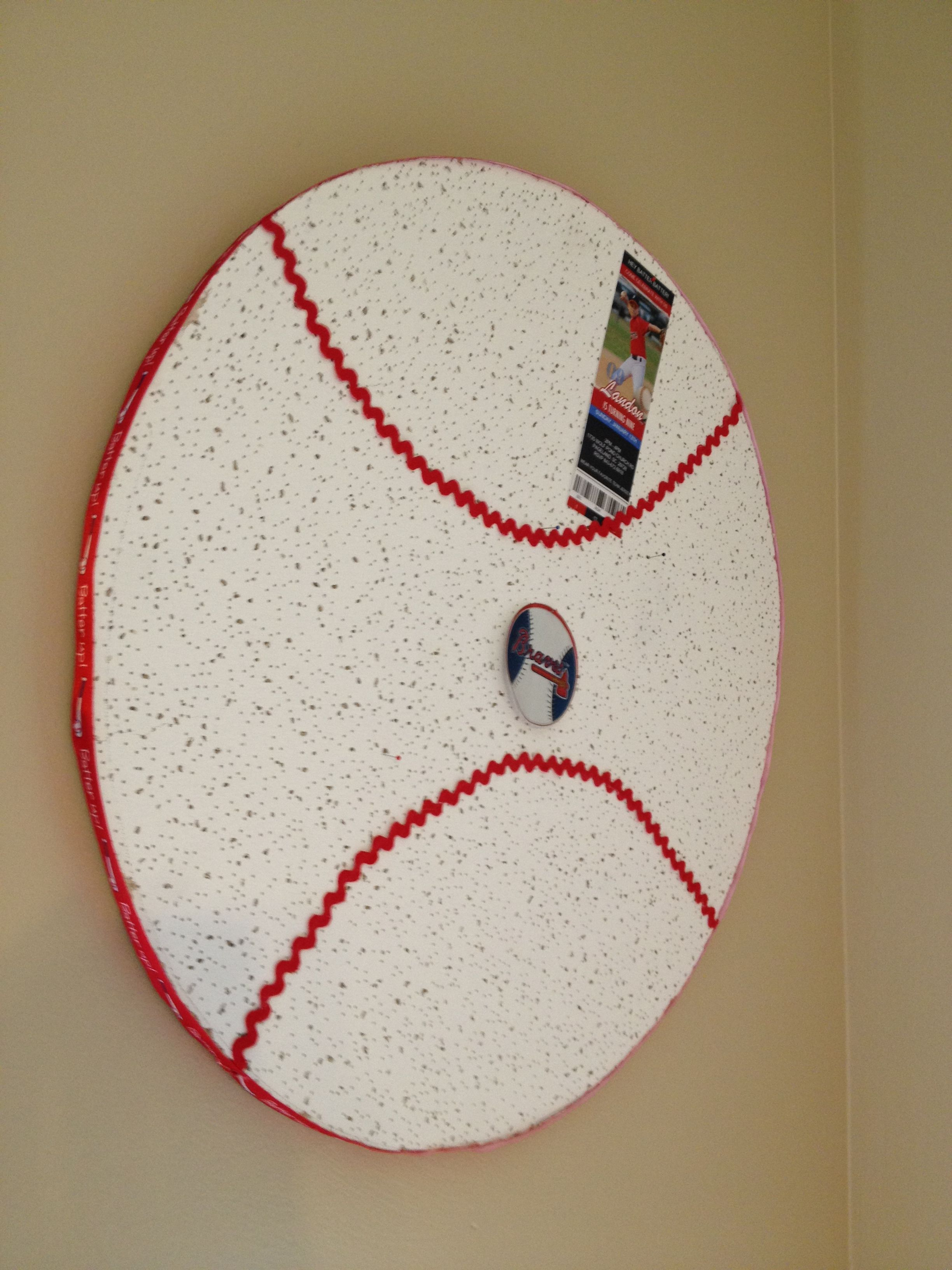 Baseball Room Make A DIY Cork Board