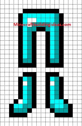Minecraft Pixel Art Templates Diamond Armour Leggings And Boots Minecraft Pixel Art Pixel Art Templates Minecraft Pixel Art Templates