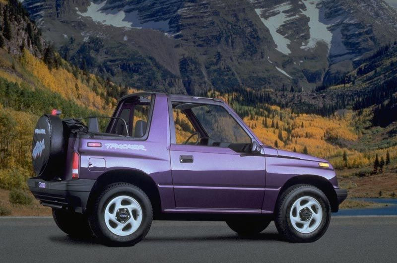 Purple 3 Geo Tracker Convertible Car Geo Car Images