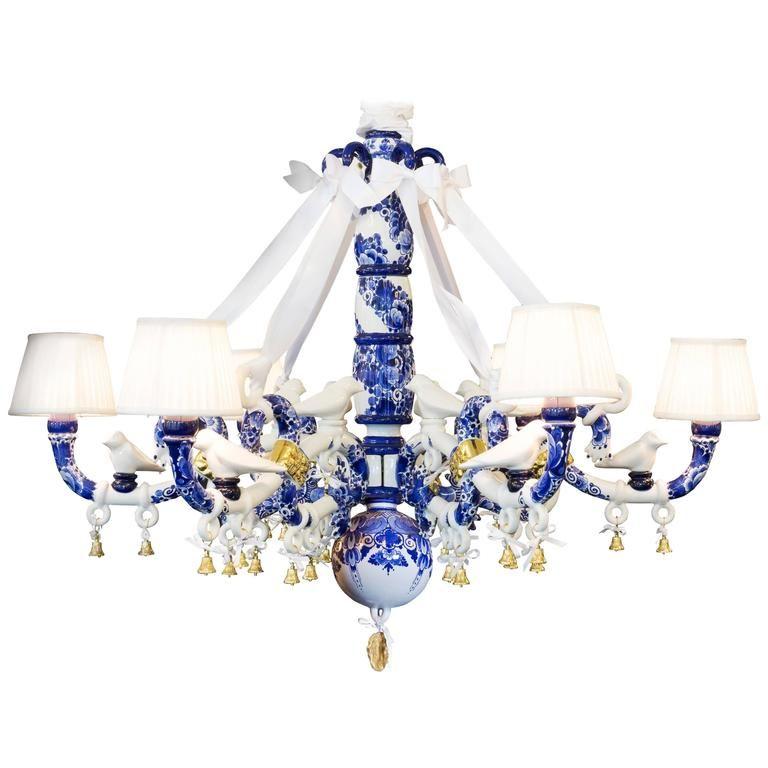 Delft Blue Chandelier by Marcel Wanders | Blue chandelier, Delft ...