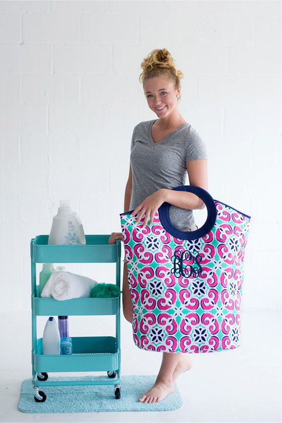 Monogrammed Laundry Hamper Mega Tote Monogram Laundry Bag