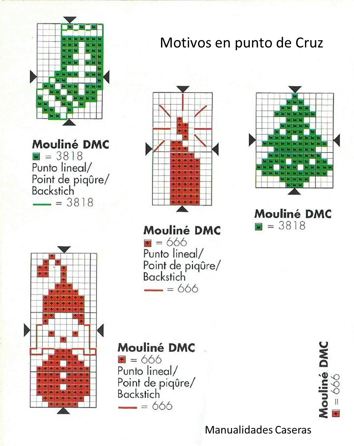 Manualidades Caseras Faciles patrones de punto de cruz de navidad ...