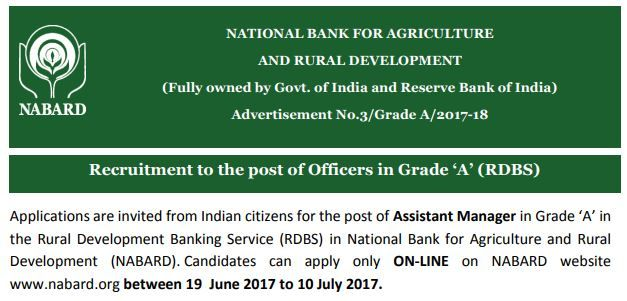 Nabard Bank Assistant Manager Jobs for Degree (any subject