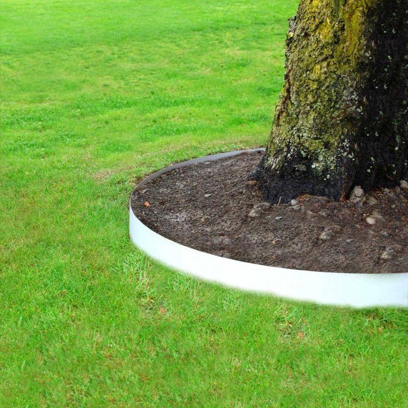 Entourage D Arbre Affleurant Non Visible Pvc Blanc Bordure Jardin Jardins Bordure De Jardin