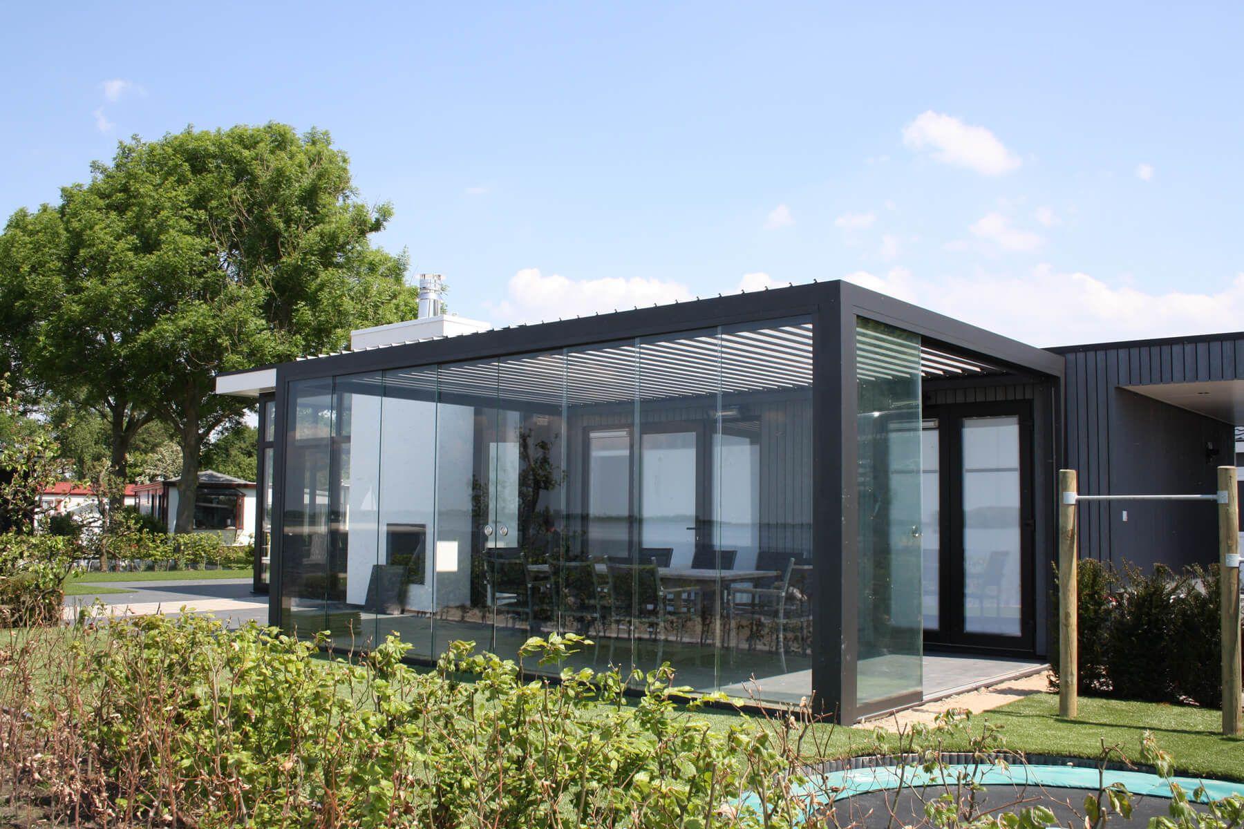 Glasschiebetüren Sunflex SF 20 Windschutz für die Terrasse