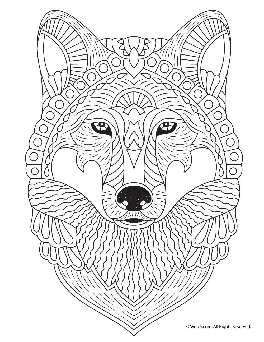 wolf coloring page animal coloring pages cool