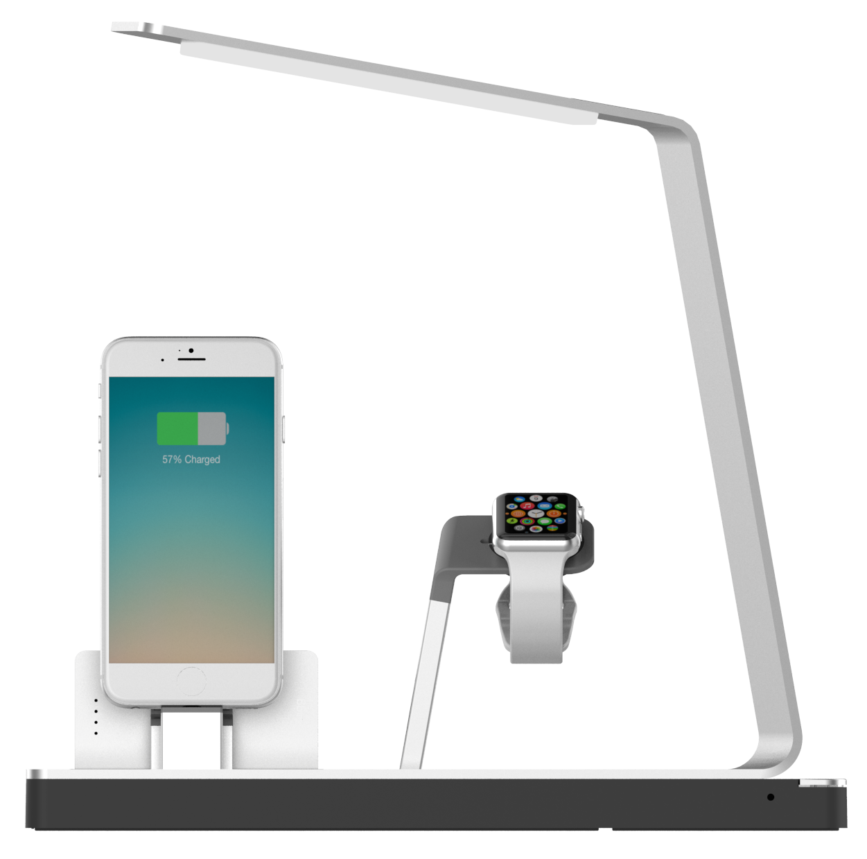 Elegantly Designed Iphone Amp Amp Apple Watch Power Dock With Smart Led Lamp Optional Nuki Portable Bat Apple Watch Charging Stand Lamp Apple Watch Charging