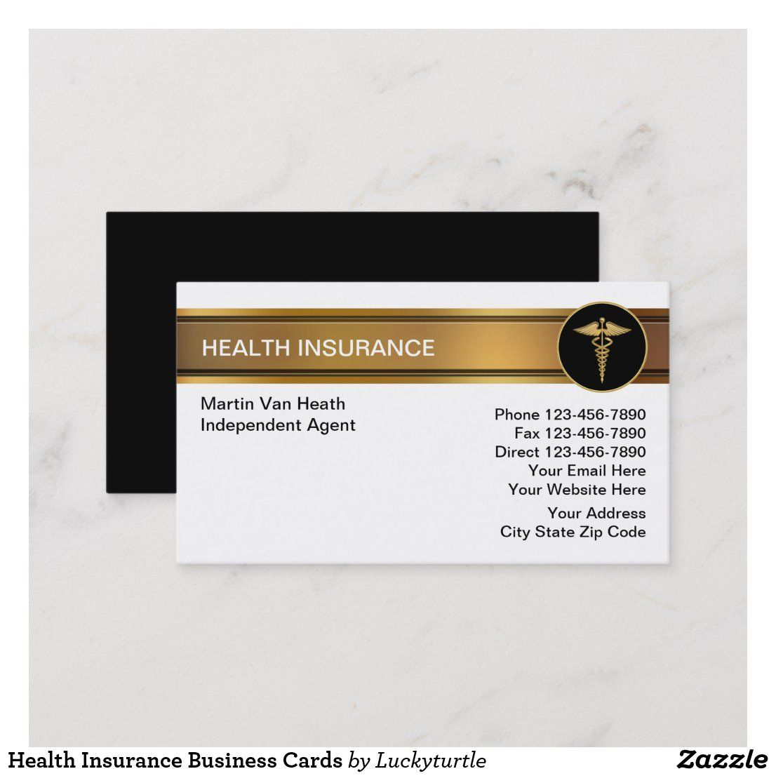 Health insurance business cards in 2020