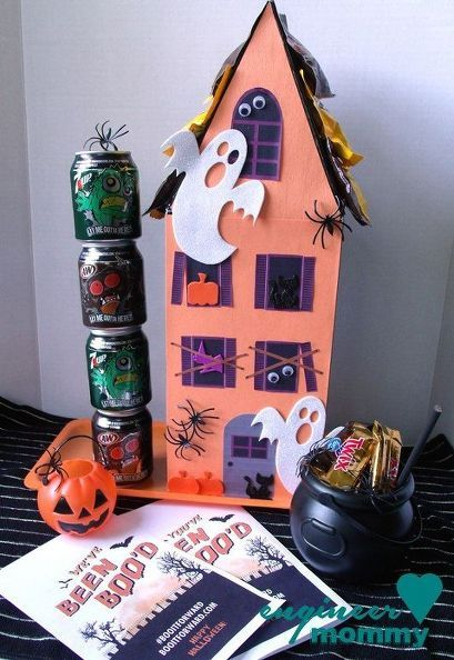 30 Shoe Box Craft Ideas: DIY Haunted House From A Shoe Box