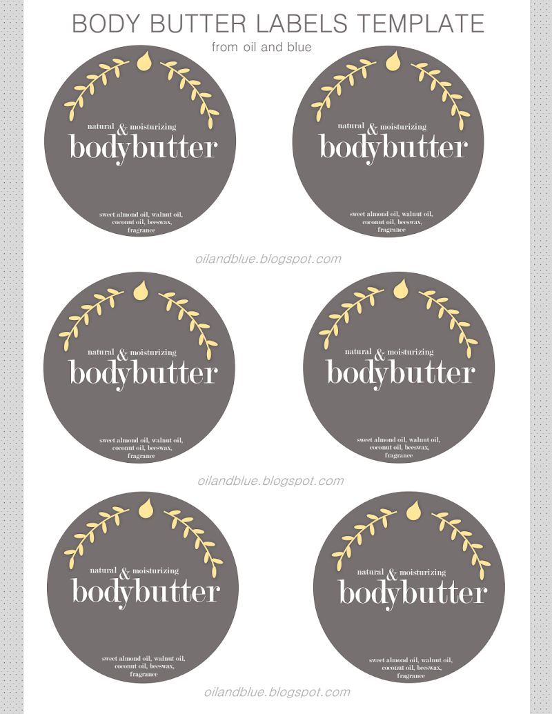 Diy Free Printable Labels For Body Butter Google Drive Body Butter Labels Labels Printables Free Body Butter