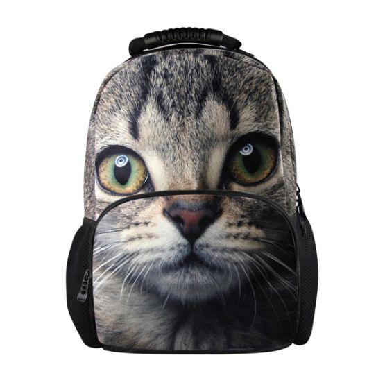 Barato Mulheres mochilas mochilas 3D animais tigre gato
