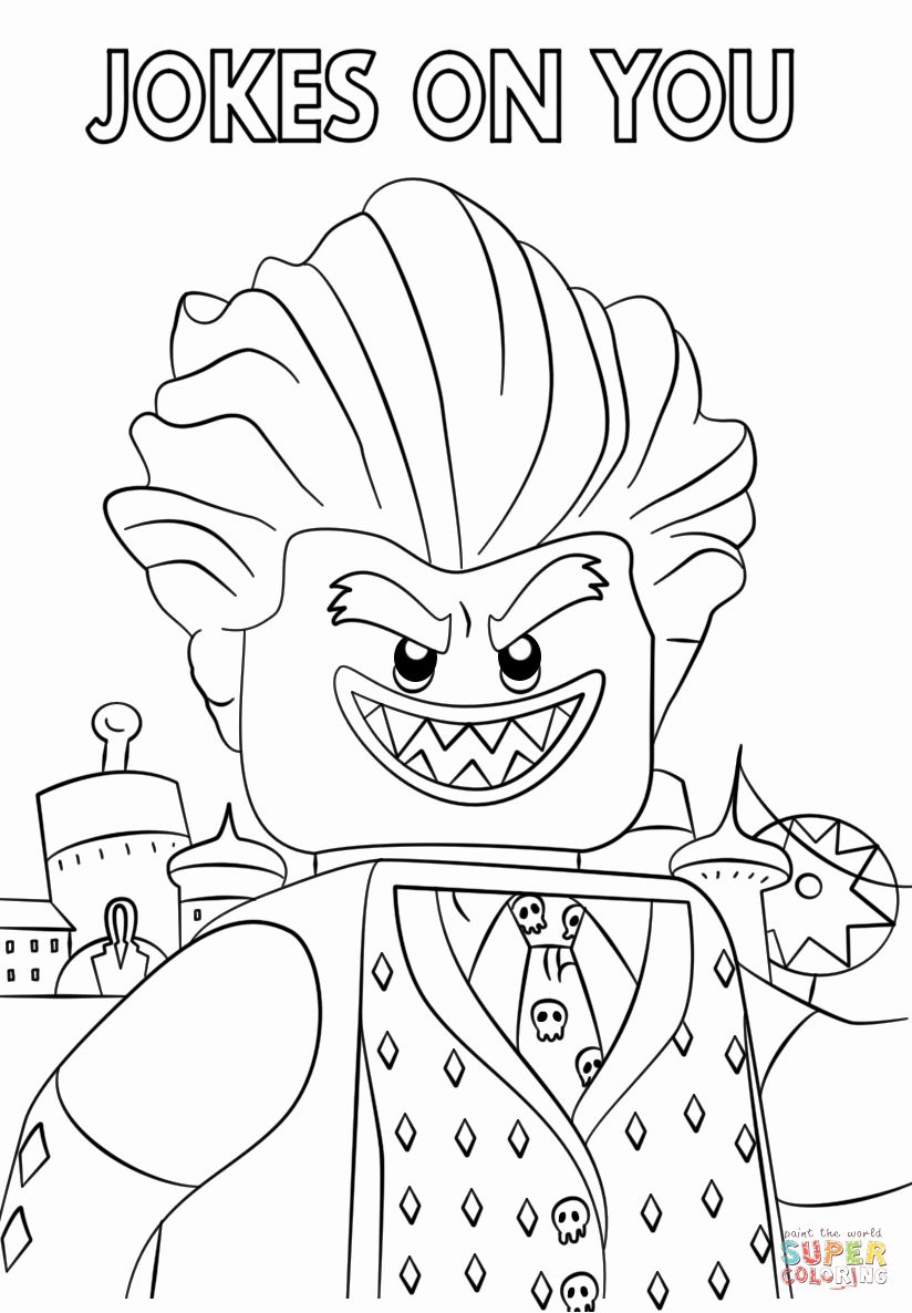 Lego Batman Coloring Book Elegant Jocker From The Lego Batman Movie Coloring Page Lego Coloring Pages Lego Movie Coloring Pages Lego Coloring