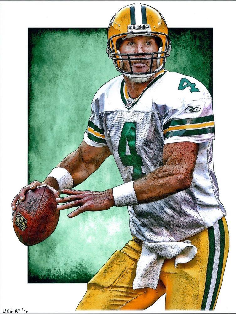 Packers Brett Favre by Jeff Lang