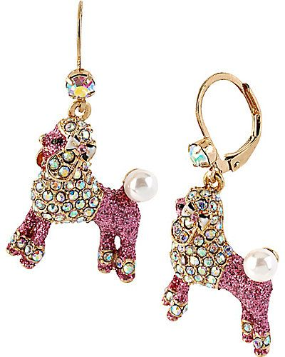 For Mommy To Wear The Party Paris Pink Poodle Drop Earring