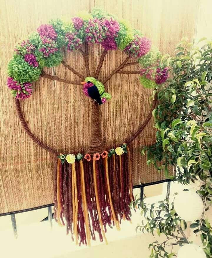 Resultado de imagen para telar decorativo con flores - Arboles decorativos ...