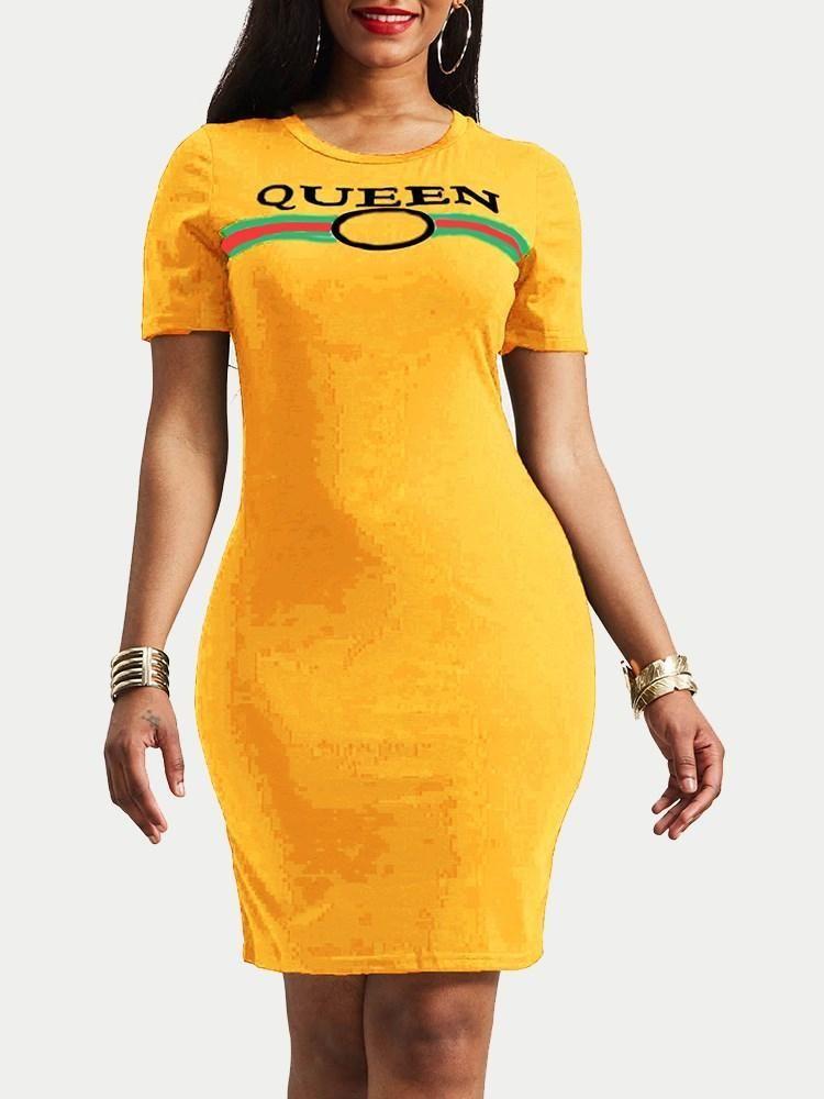 513b2d14a3e4 Women's Summer Short Sleeve Knee-Length Bodycon Dress | Hebedress ...
