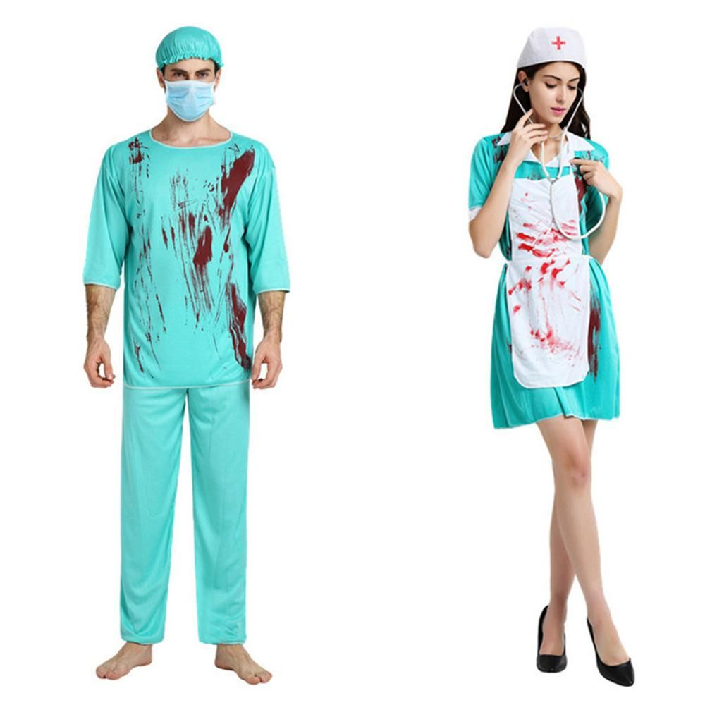 5c15c170ed0e5 Horror Bloody costume female nurse & male surgical doctor in 2019 ...