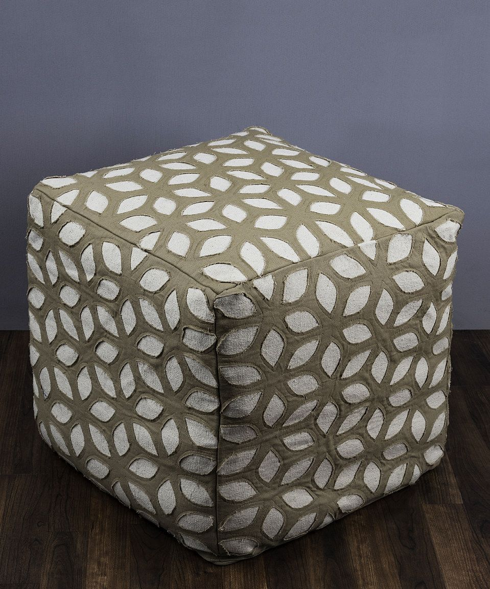 Take a look at this Olive Hexagon Leaf Floor Pillow today!