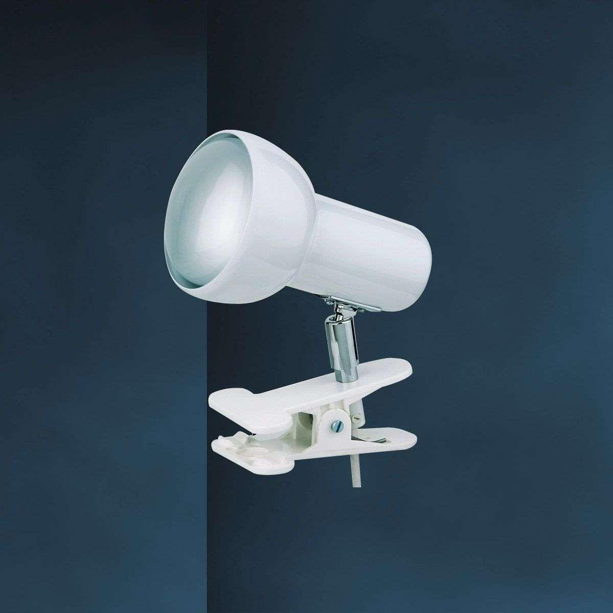 White Clip On Light Eifel In 2020 Light Wall Spotlights Interior Styling