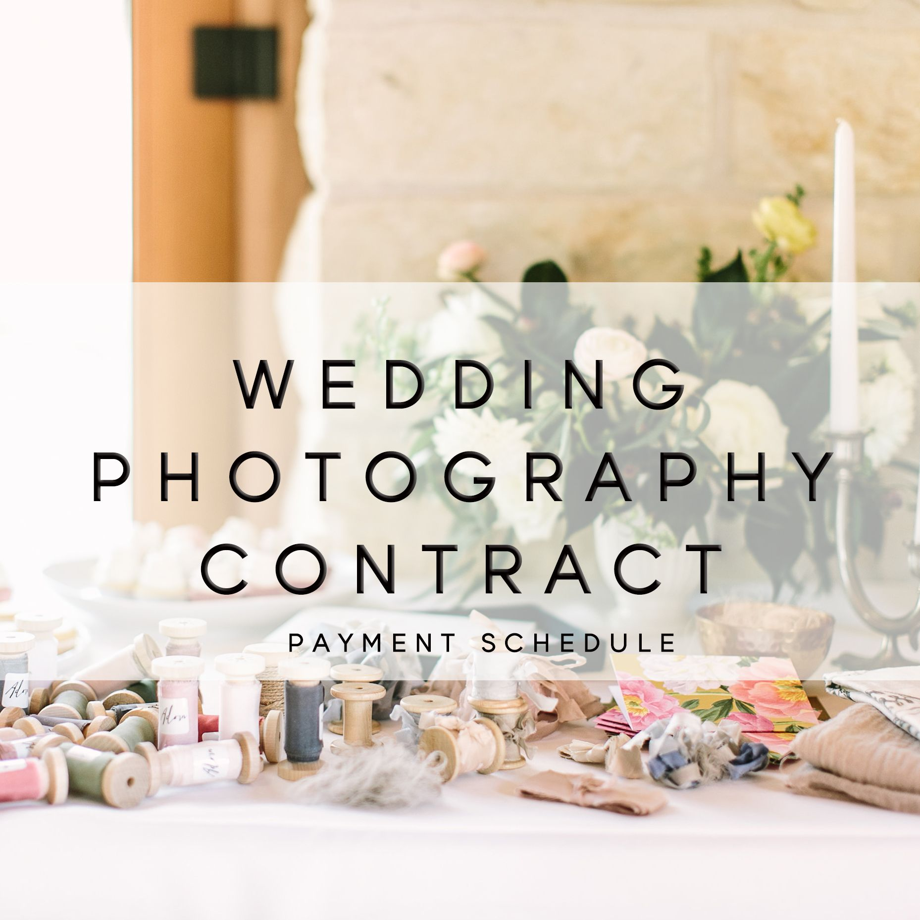 Wedding Photography Contract Payment Plan  Legal Tips For