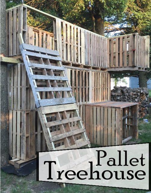 Pallet Treehouse Creative But Blogless Friends